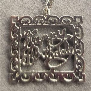 Sterling Silver HAPPY BIRTHDAY Necklace